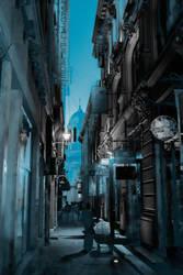 Bucharest - blue by binarymind