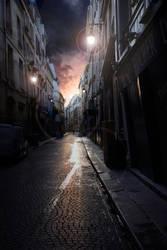 Sunset in Paris by binarymind