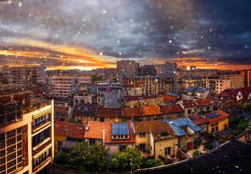 Paris sunsrie by binarymind
