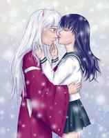 Just a silly little kiss by Shizuka-no-Ame