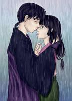 In the rain by Shizuka-no-Ame