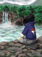 Sitting by a Waterfall by Shizuka-no-Ame