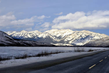 Athabasca River, Rocky Mountains and Highway 16 by 5ean