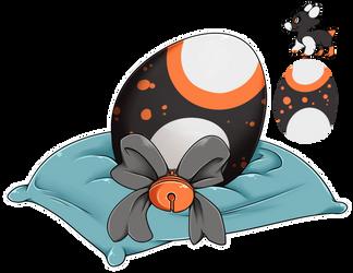 Eggy Raffle 2017 #3 - Snow Pebble by Wyngrew