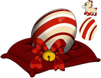 Egg Raffle 2018 #6 - Candy Cane by Wyngrew