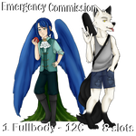 Emergency Commission-Soft shaded Fullbody (CLOSED) by BOUSISUMMER