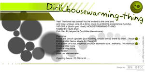flyer for a housewarming party by belh4wk