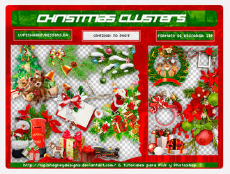 +PACK CHRISTMAS CLUSTERS by LupishaGreyDesigns