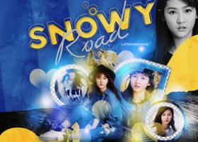 Snowy Road by LupishaGreyDesigns