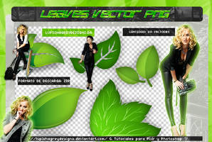 LEAVES VECTORS PNG by LupishaGreyDesigns