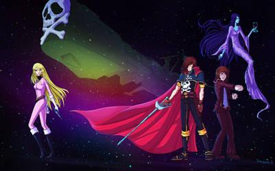 Space Captain Harlock fanart by LoonyFred
