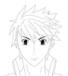 Male character #1 non colored by Ken-Yuhiko
