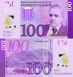 Telemor 100 Franc Note, 2018 Version by requindesang