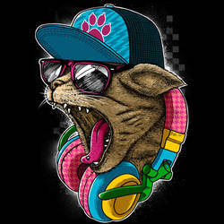 Cool and Wild Cat by Design-By-Humans