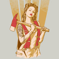 Axe Girl by Barmalizer by Design-By-Humans