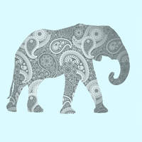 Paisley Elephant by Design-By-Humans