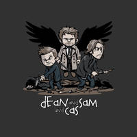 Dean and Sam... and Cas by Design-By-Humans