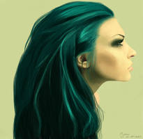 Green Hair by 19Frency94