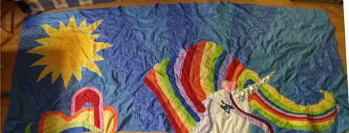 Rainbow Unicorn Quilt Update 12-29-2012 by Keyoko