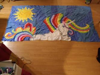 Update Rainbow Unicorn Quilt- 03-31-2013 by Keyoko