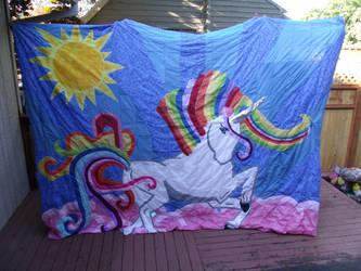 Rainbow Unicorn Quilt Update 05242014 by Keyoko