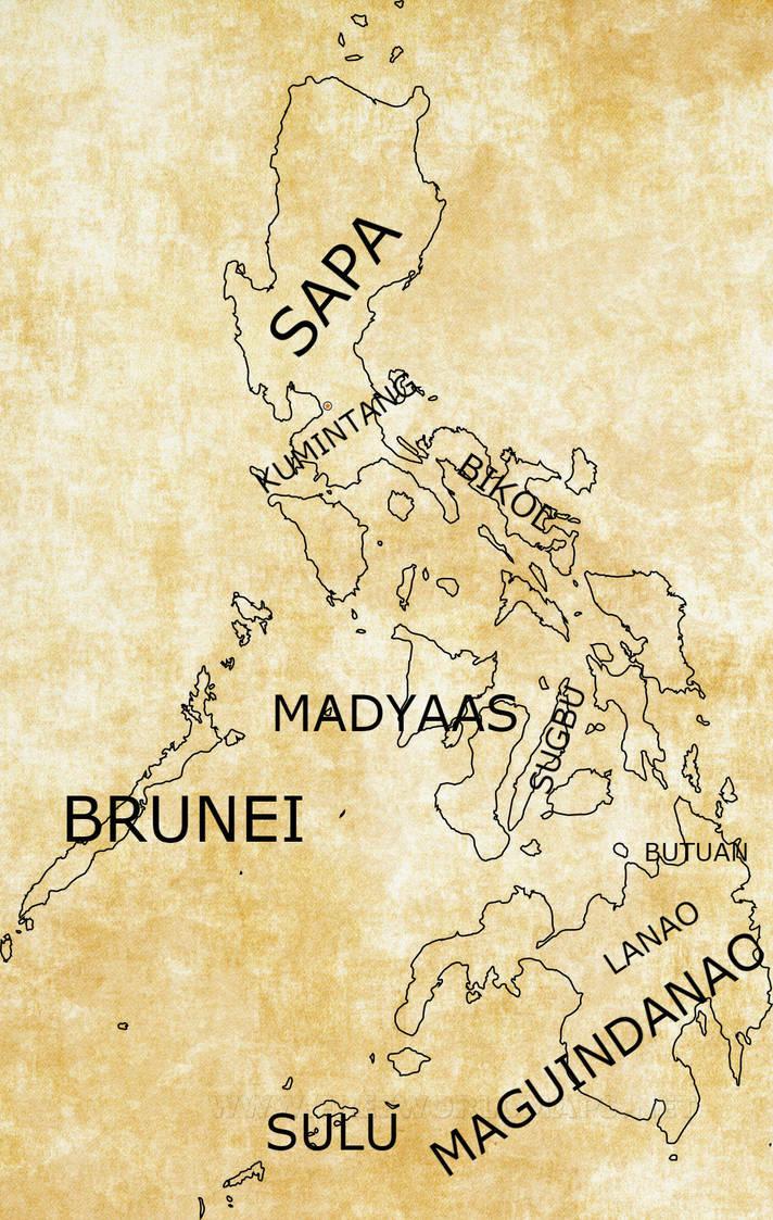 Spanish Philippines Map.No Spanish Philippines In An Encantadia Like Map By Kazumikikuchi On
