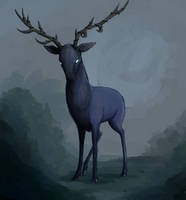 Faen, The Shadowhorn Stag by CervineBlue