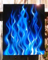 blue flame by hardart-kustoms