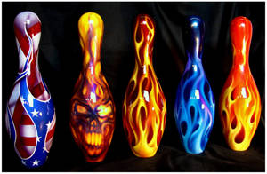 All 5 Bowling Pins by hardart-kustoms