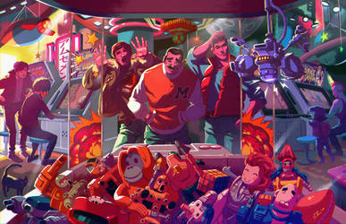 POWER XTREME... at the arcade! by ZEBES