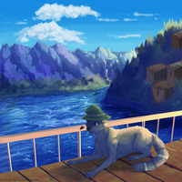 Rest near the sea - commission by Yessys