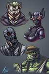 Bat Villains animalistic 2 by Jaehthebird