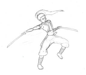 The Roaming Swordsman by Arctic-Master