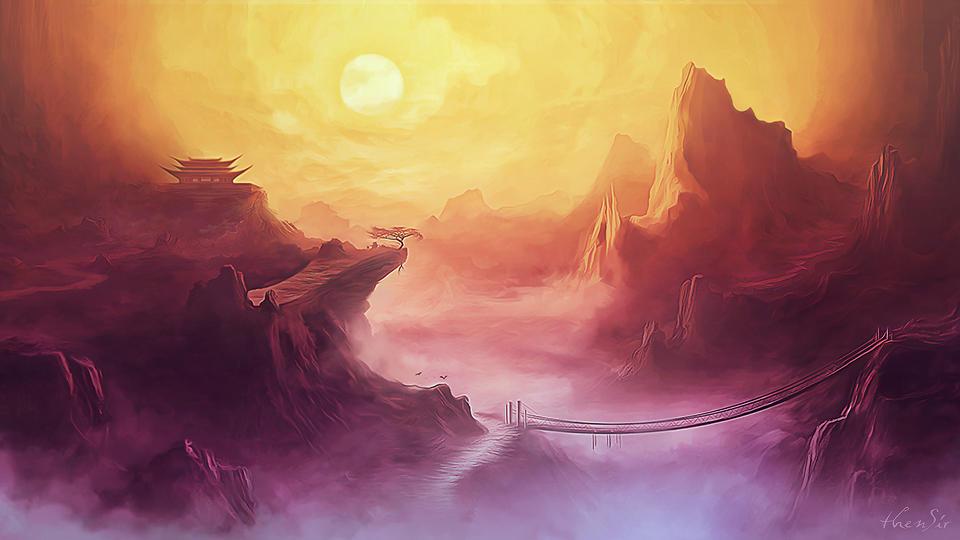 Kung Fu Panda - Valley of Peace - Jade Palace by thenSir