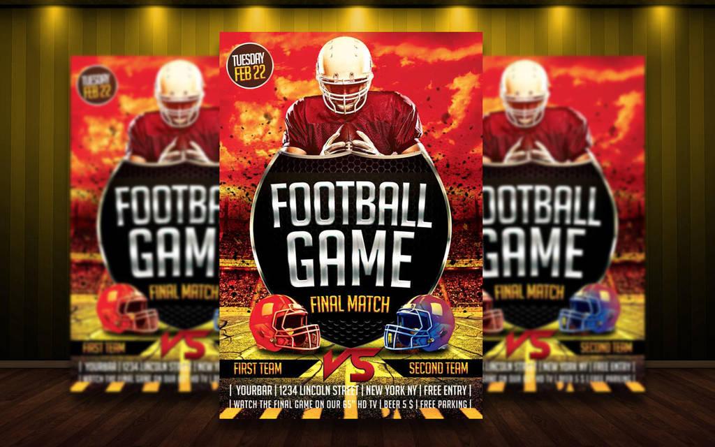 Free Football Flyer Template By Matteogianfreda94 On Deviantart