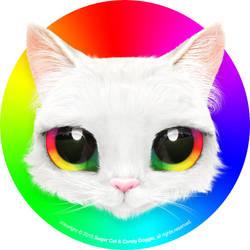 Rainbow Cat by sugarcat-candydoggie