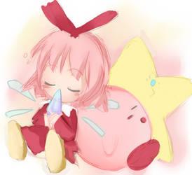 Kirby and Ribbon Again by kano-bi