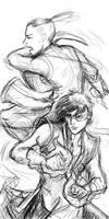 Sokka and Zuko quick sketch by janey-jane