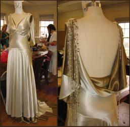 Bias cut wedding gown by janey-jane