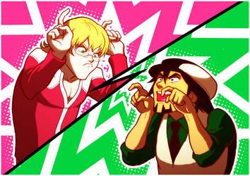 Tiger vs Bunny by rasenth
