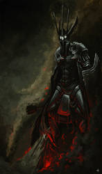 Morgoth and Fingolfin by Mentosik8