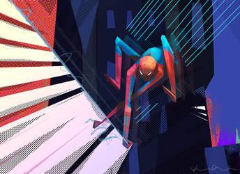 friendly neighborhood spiderman by KIRKparrish