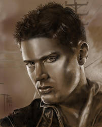 Portrait: Dean Winchester by catbones