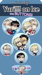 Yuri on Ice!!  buttons by shindianaify