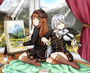 Himitsu no Tegami: Nanami and Maho by shindianaify
