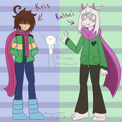 Yes I'm trash and I just made a Deltarune AU by Jolibe