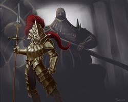 Dragon Slayer Ornstein - Dark Souls by mylesillustration