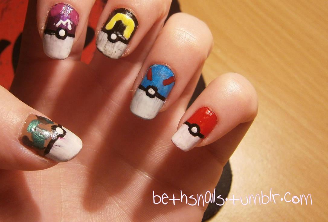 Pokemon Nail Art by besweetxo ... - Pokemon Nail Art By Besweetxo On DeviantArt