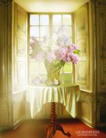 Springtime In My Window by justaddgigi