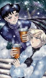 Haruka and Seiya by Lelanna